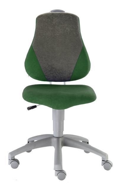 Rostoucí židle Fuxo Suedine tmavě zeleno šedá 004