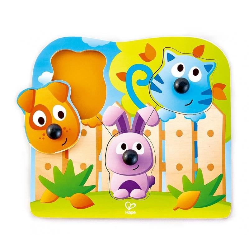 Puzzle s úchytkami - Domácí zvířátka