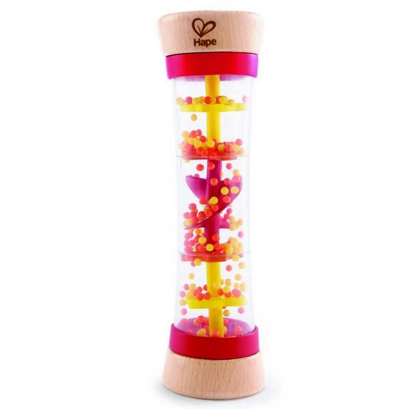 HAPE dřevěná muzikální hračka - Deštová hůl červená