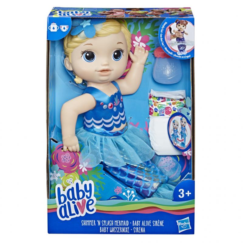 Baby Alive Lalka Migocząca syrenka Blondynka