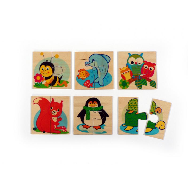 Hess Puzzle drewniane 6 zwierząt