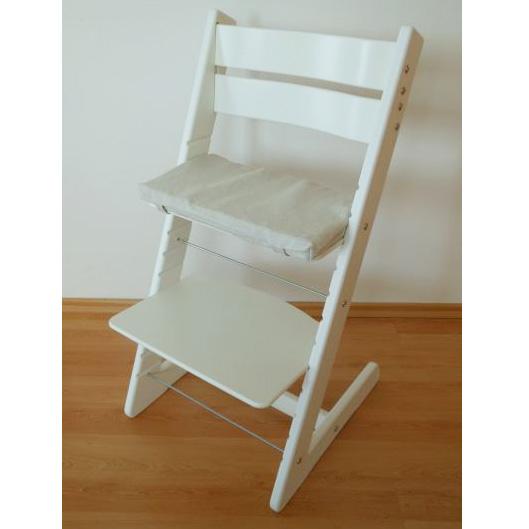 Detská rastúca stolička JITRO KLASIK biela