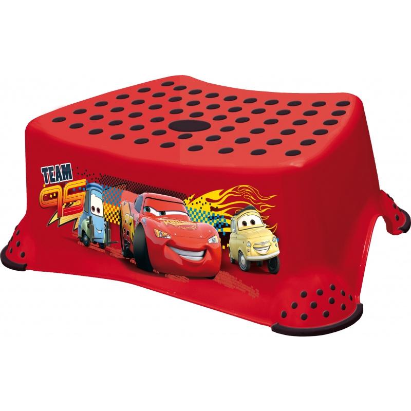 Stolička, schůdek s protiskluzovou funkcí  - Cars II - červená