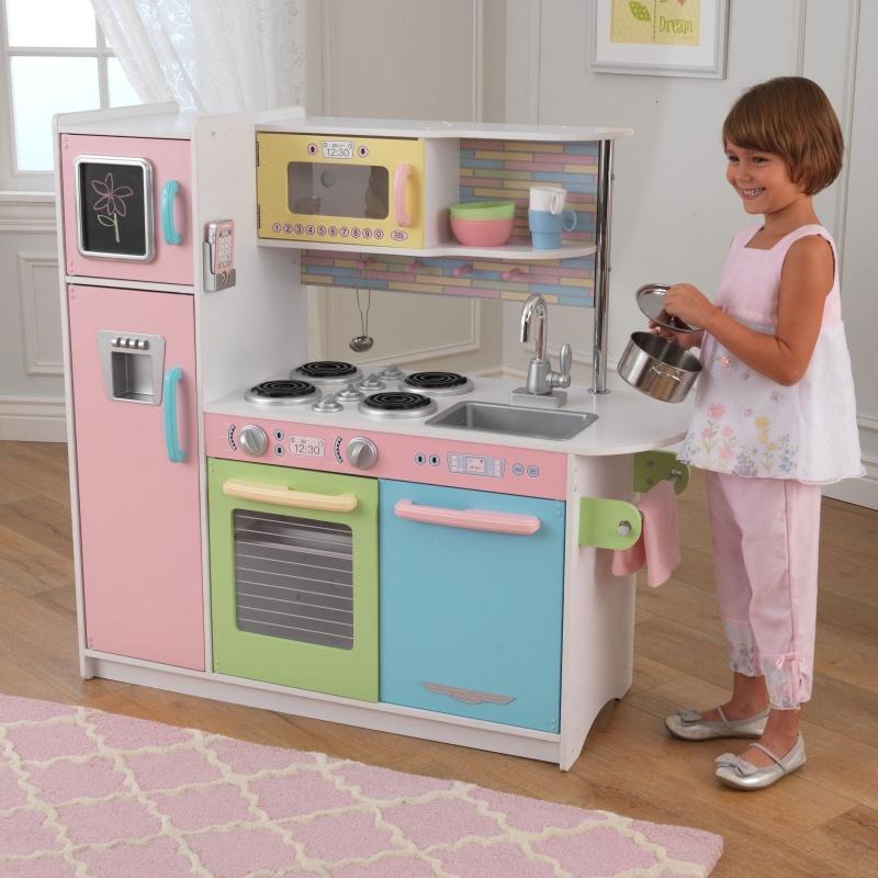 Kuchnia Dla Dzieci Drewniana Kidkraft Pastel 53257