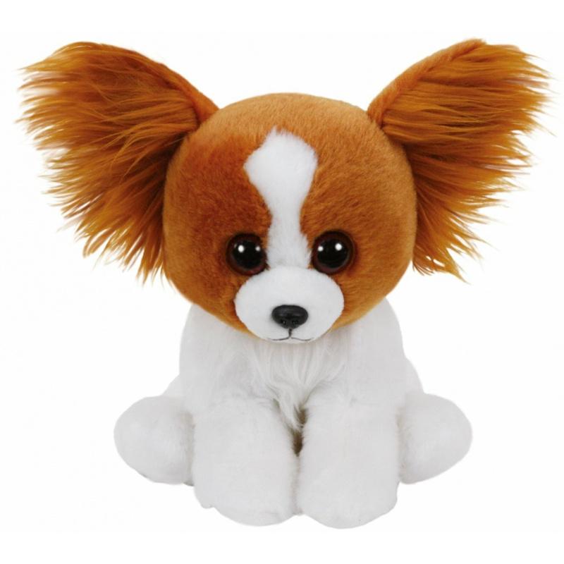 Beanie Boos plyšový psík hnedo / biely 26 cm