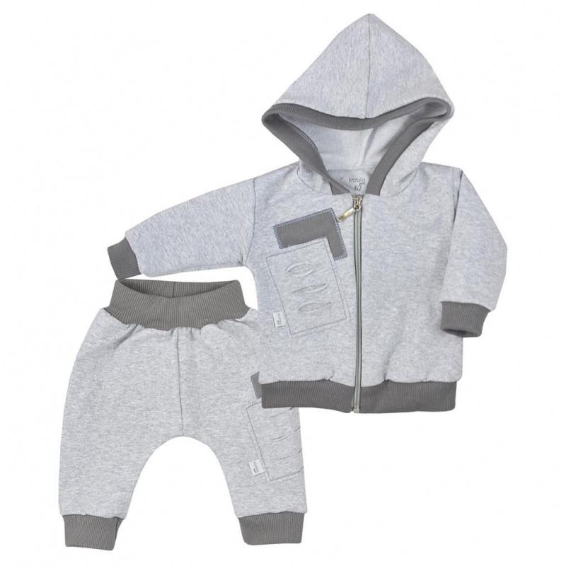 Dojčenské tepláčky a mikinka s kapucňou Koala Kamil šedá