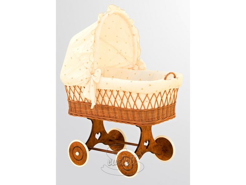 Proutěný košík s boudičkou Šárka béžový