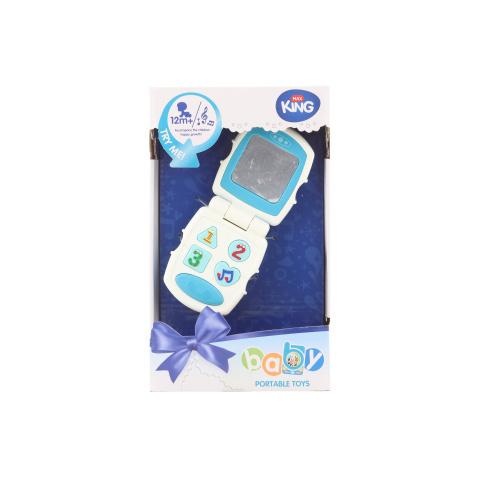 Telefon dla dziecka niebieski na baterii