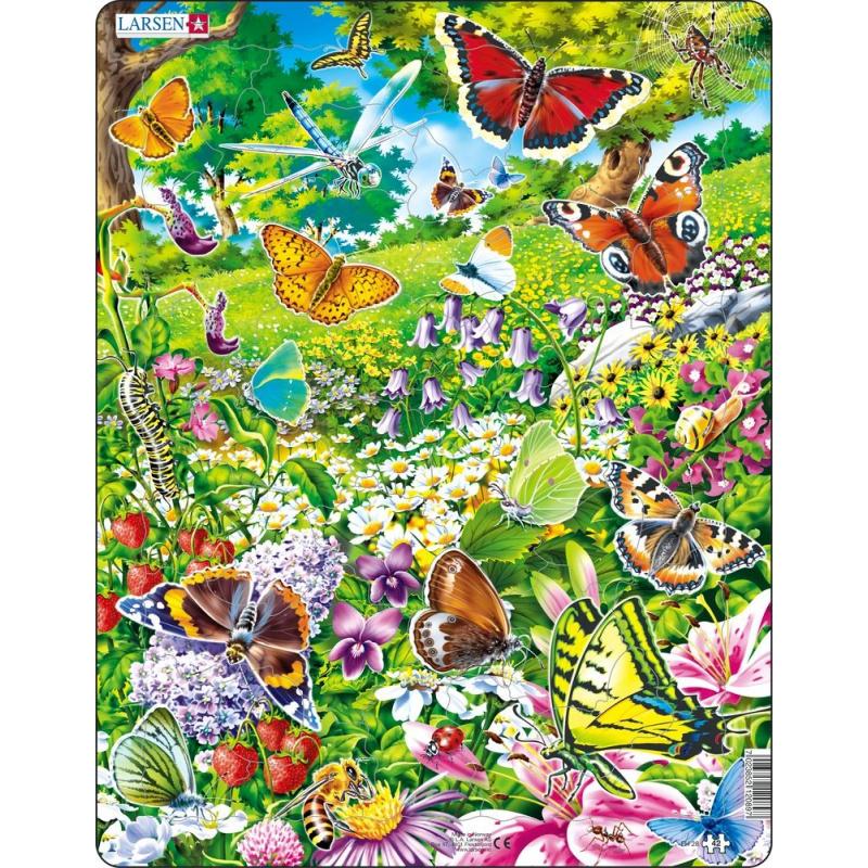 Puzzle Motýli 42 dílků