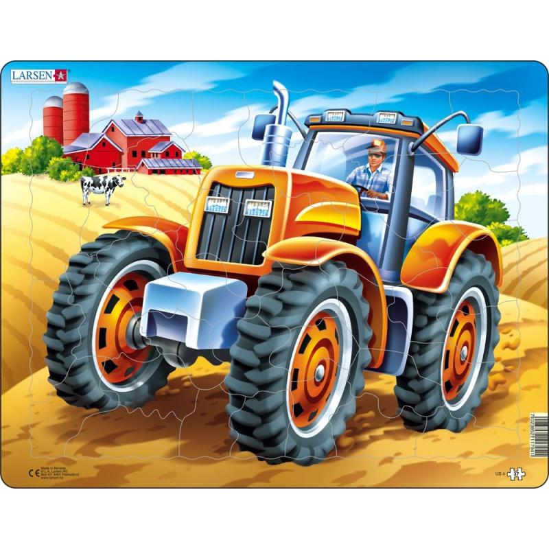 Puzzle Americký traktor 37 dílků