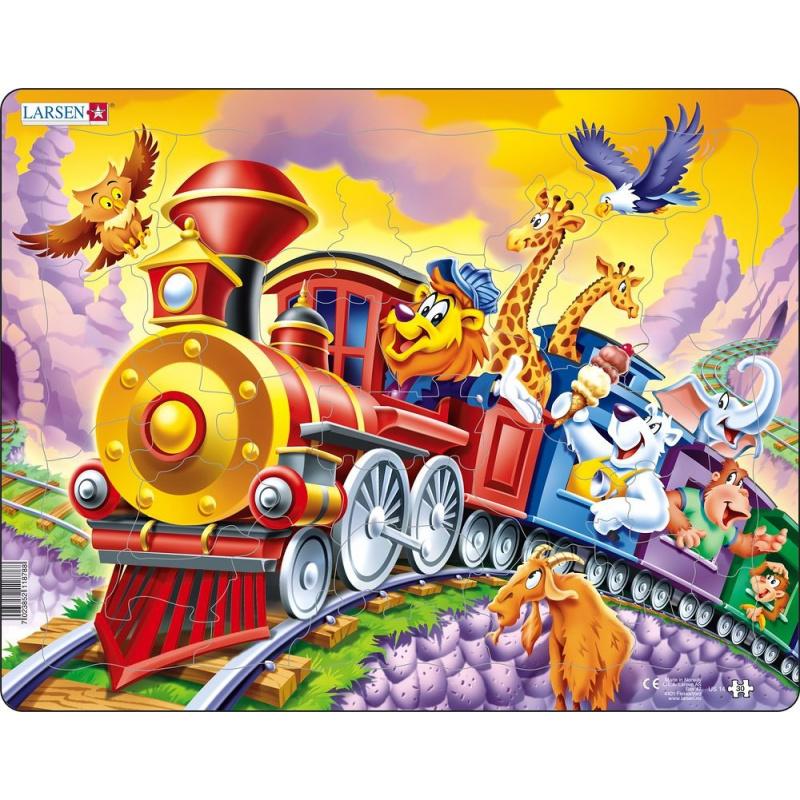 Puzzle Cirkusový vlak 30 dielikov