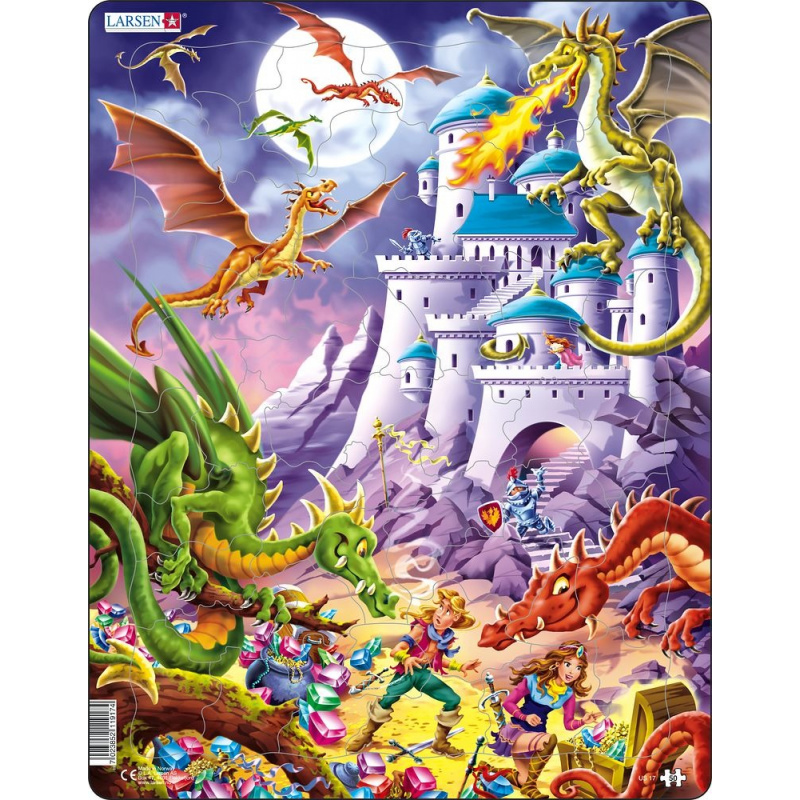 Puzzle Pohádkoví draci 50 dílků