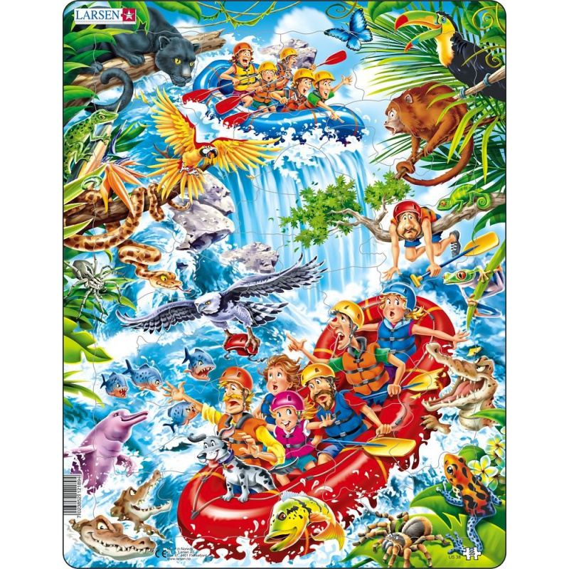 Puzzle Raft na Amazonce 35 dílků