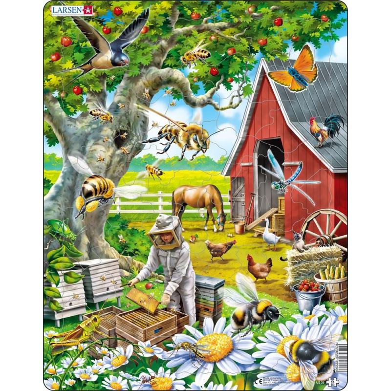 Puzzle Včelař s úlem 53 dílků