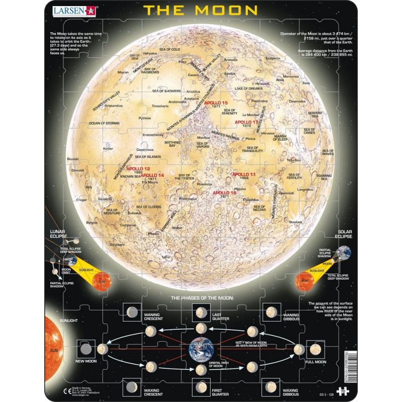 Puzzle Mesiac - mapa 70 dielikov