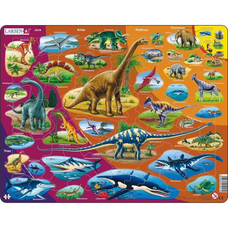 Puzzle Dinosauři 85 dílků