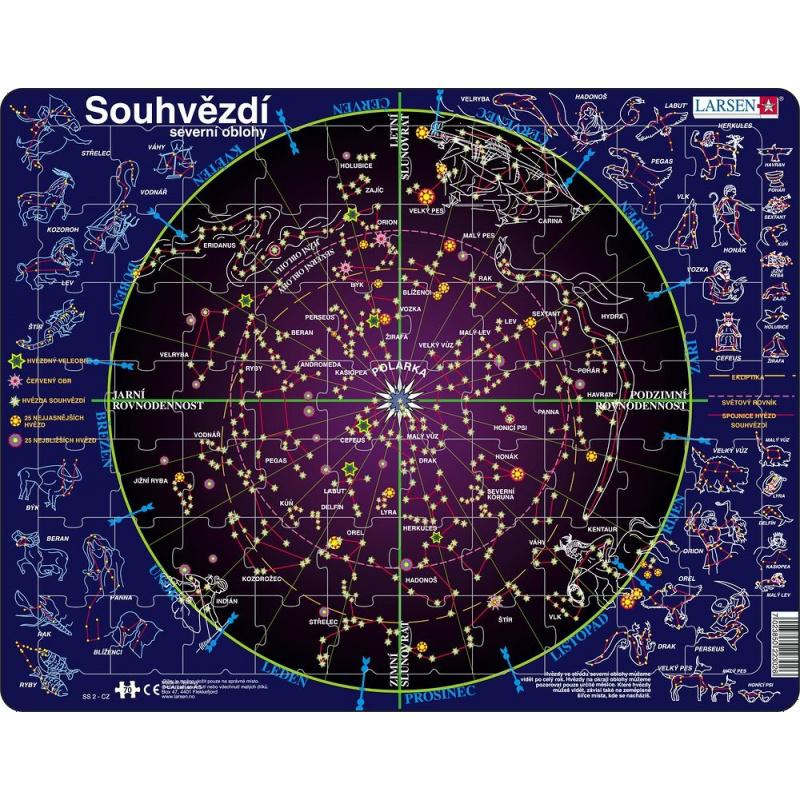 Puzzle Souhvězdí 70 dílků