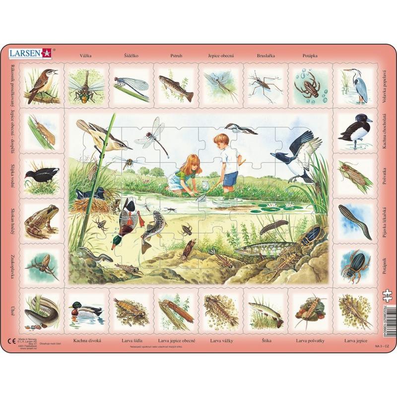 Puzzle Život pri rybníku 48 dielikov