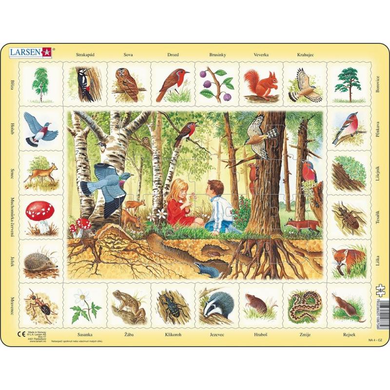 Puzzle Život v lese 48 dílků