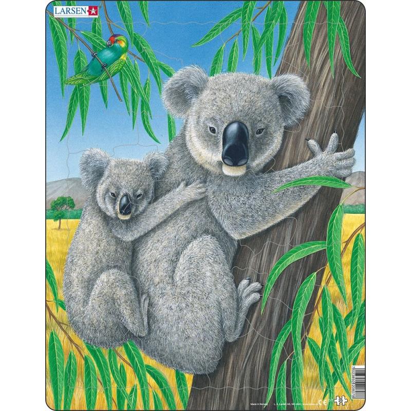 Puzzle Medvídek Koala s mládětem 25 dílků