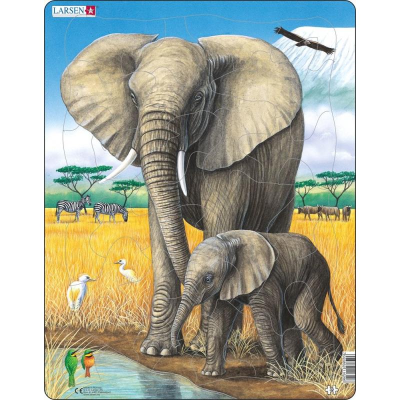 Puzzle Slon + slůně 32 dílků