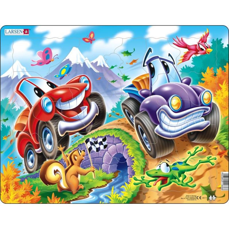 Puzzle Auta 22 dílků