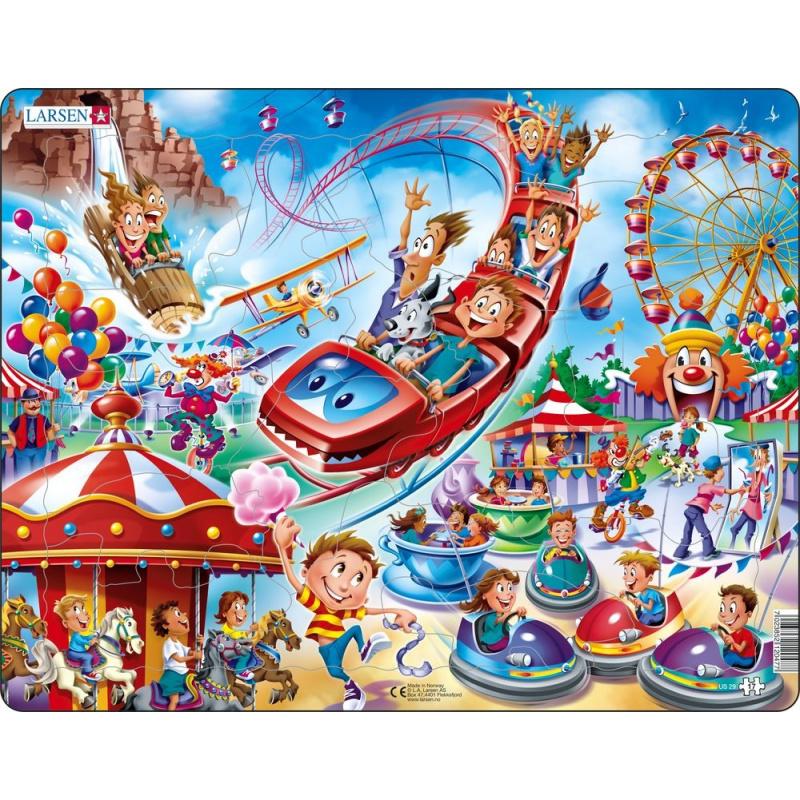 Puzzle Zábavný park 17 dielikov