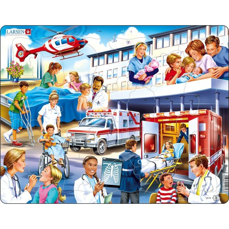 Puzzle Nemocnice 25 dílků