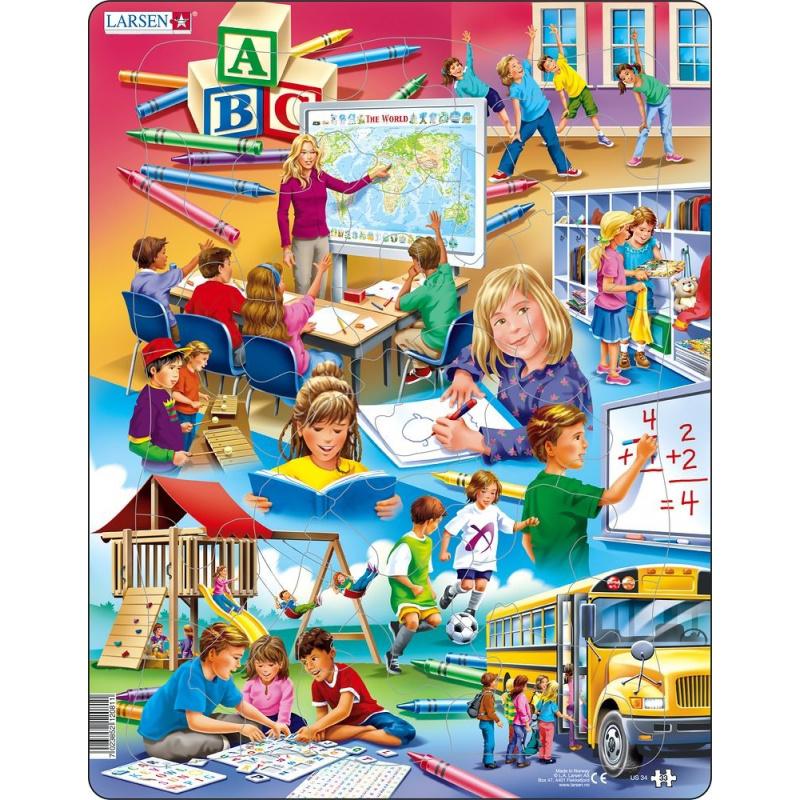 Puzzle Zpátky do školy 33 dílků