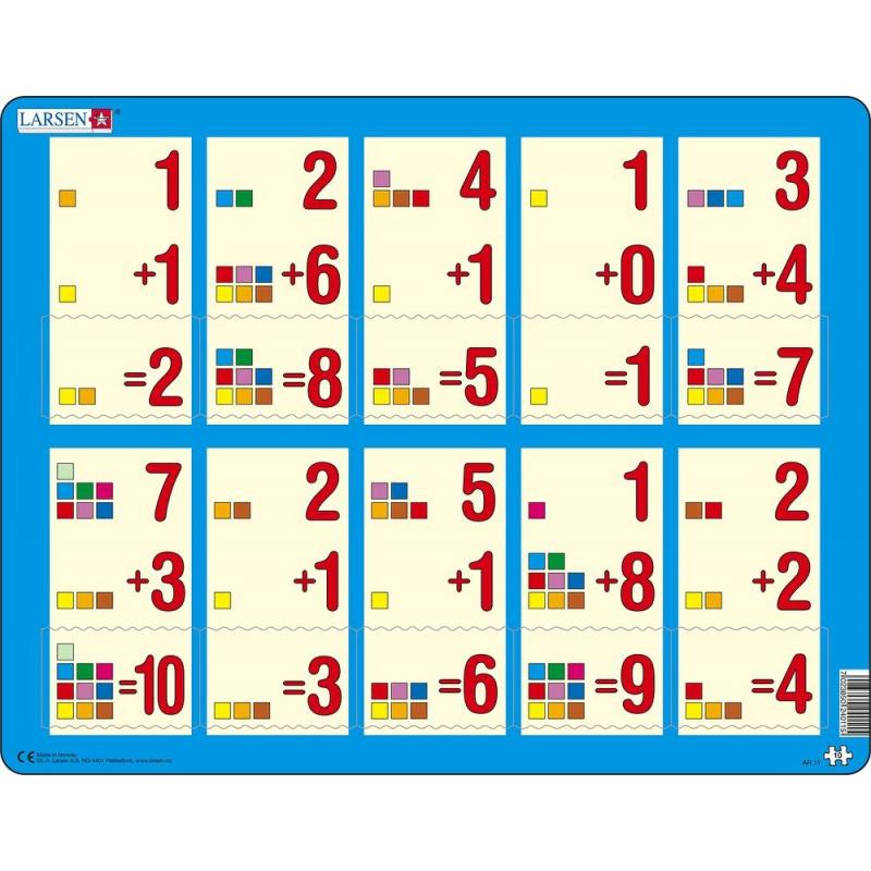 Puzzle Počítanie do 10 10 dielikov