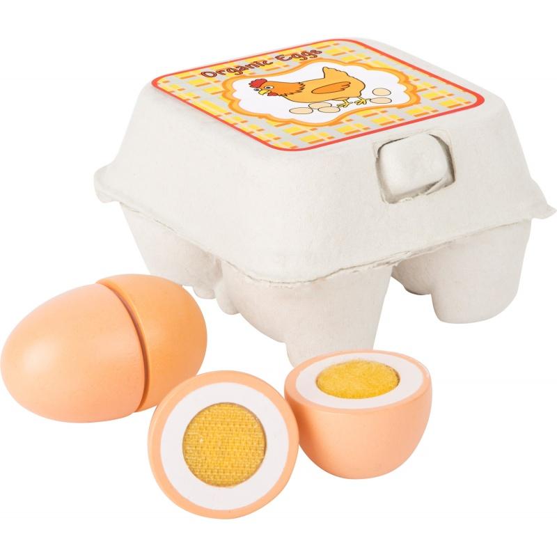 Dřevěná sada vajíček