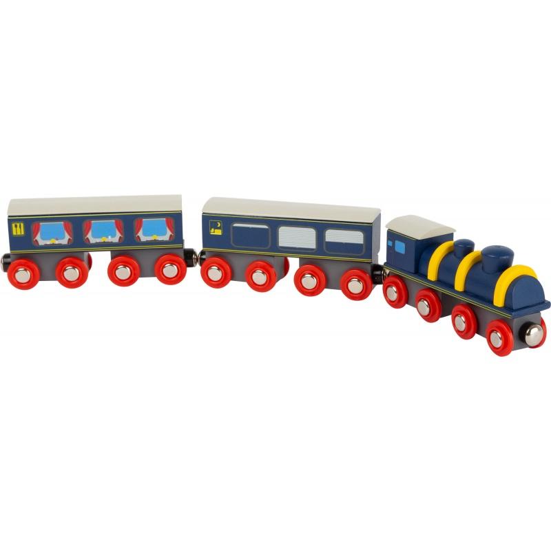 Small Foot Dřevěný vlak modrý