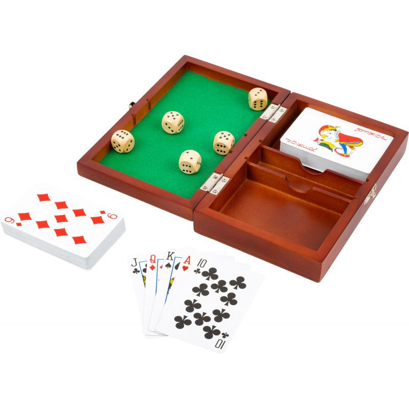 Small Foot Hrací kostky a karty v dřevěném boxu