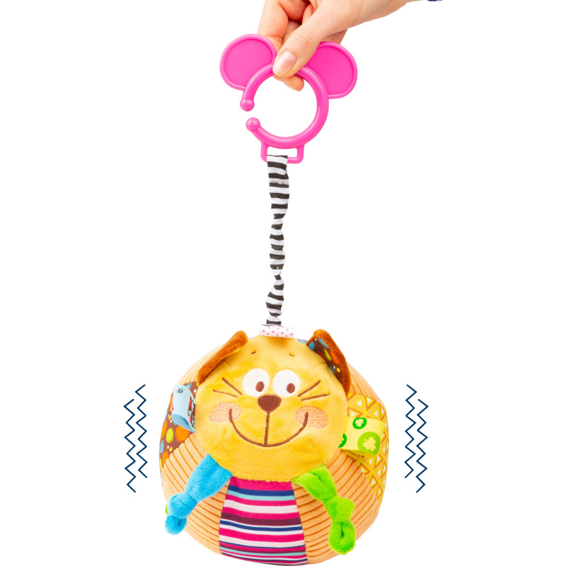 Small Foot Natahovací vrnící balónek kočka