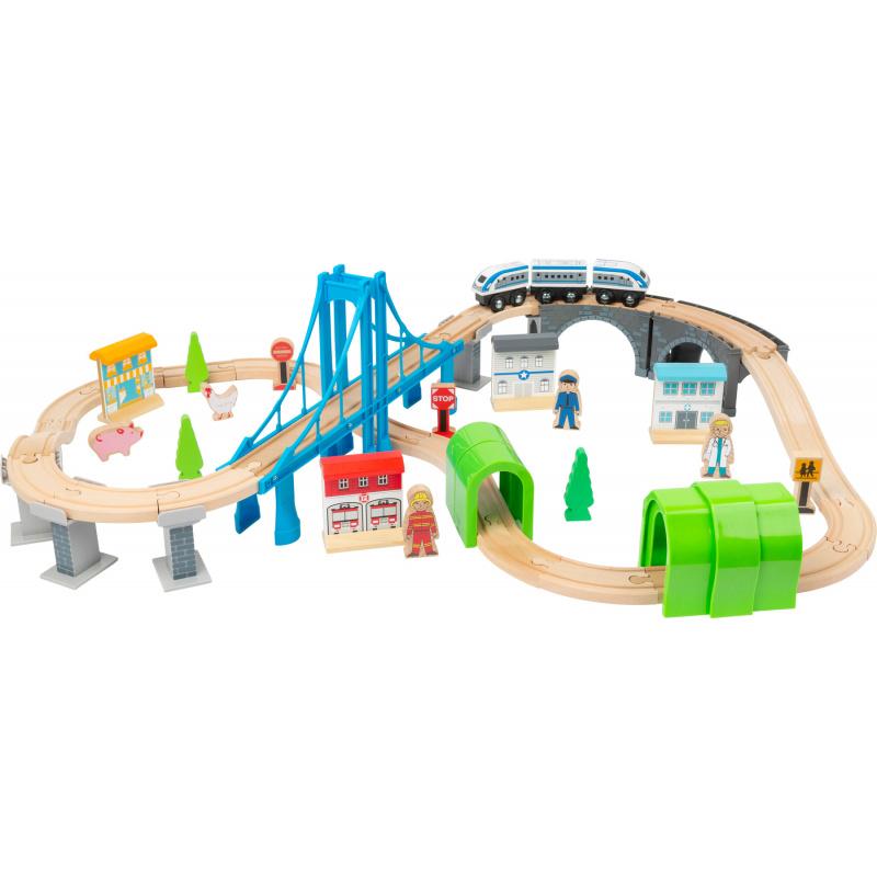 Small Foot Dřevěná vláčkodráha s mosty