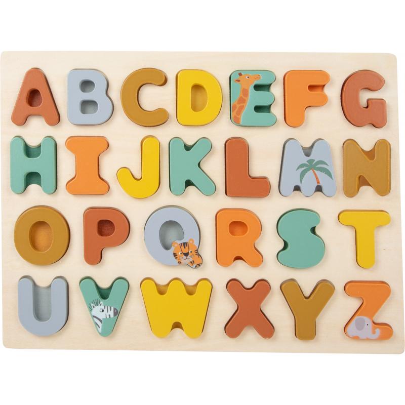 Small Foot Vkládací puzzle Safari abeceda
