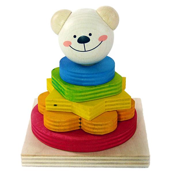 Hess Nasadzovanie farebných tvarov medvedík Timi