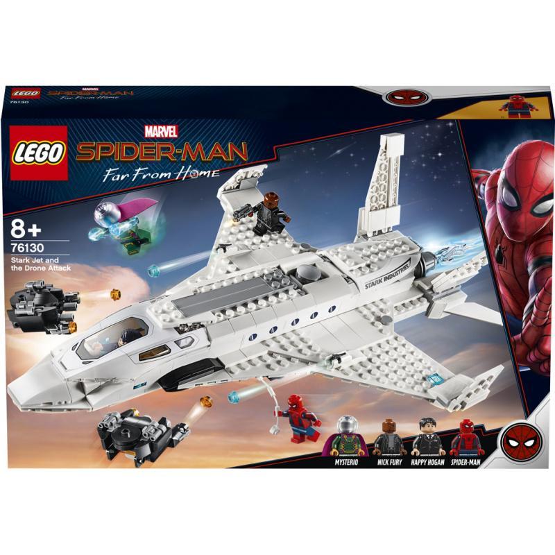 Lego Super Heroes Tryskáč Tonyho Starka a útok dronu 76130