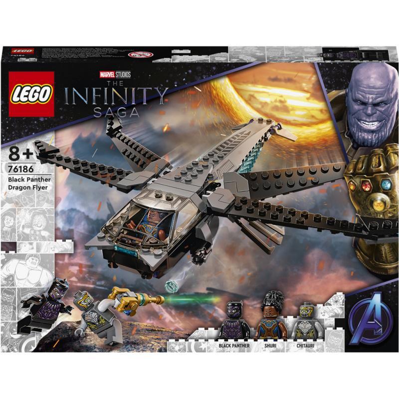 LEGO® Super Heroes 76186 Black Panther a dračie lietadlo
