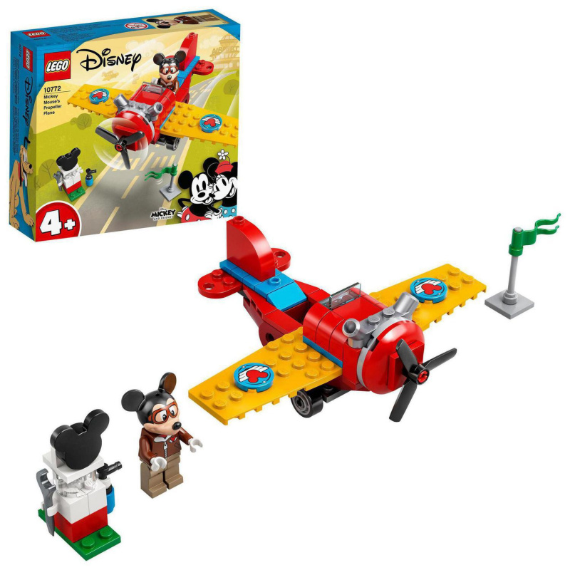 Myšiak Mickey a vrtuľové lietadlo
