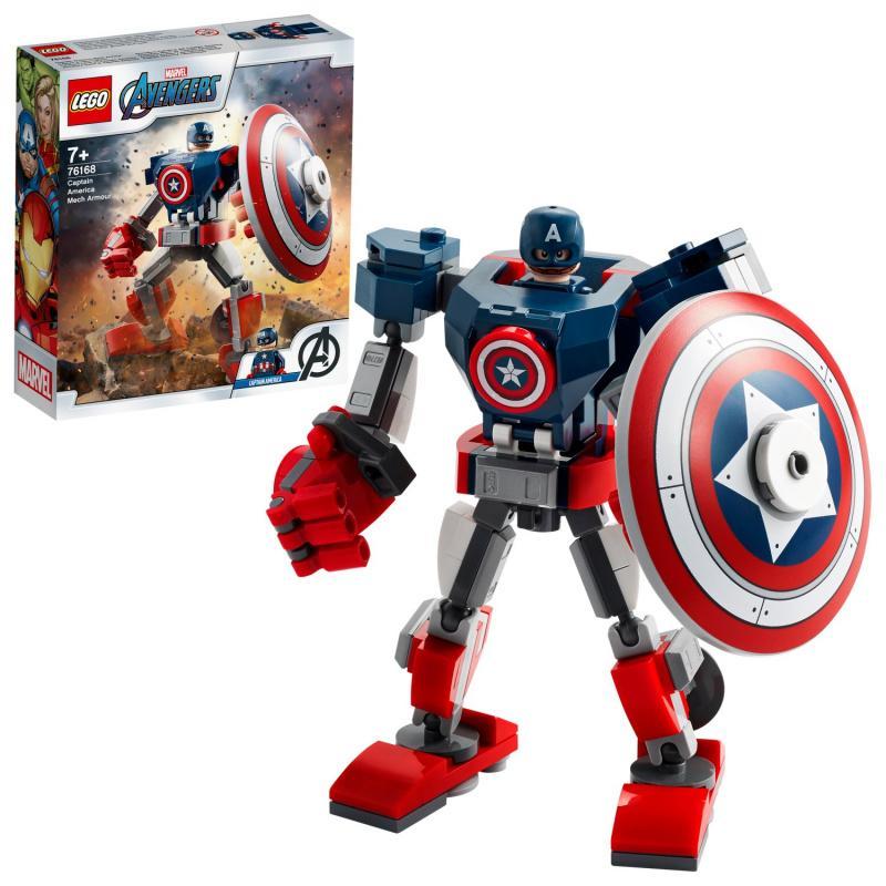 Captain America v obrnenom robotovi