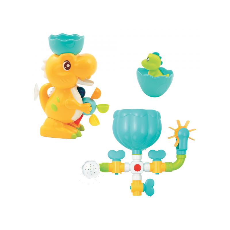 Vodný mlynček s potrubím Dinosaurus