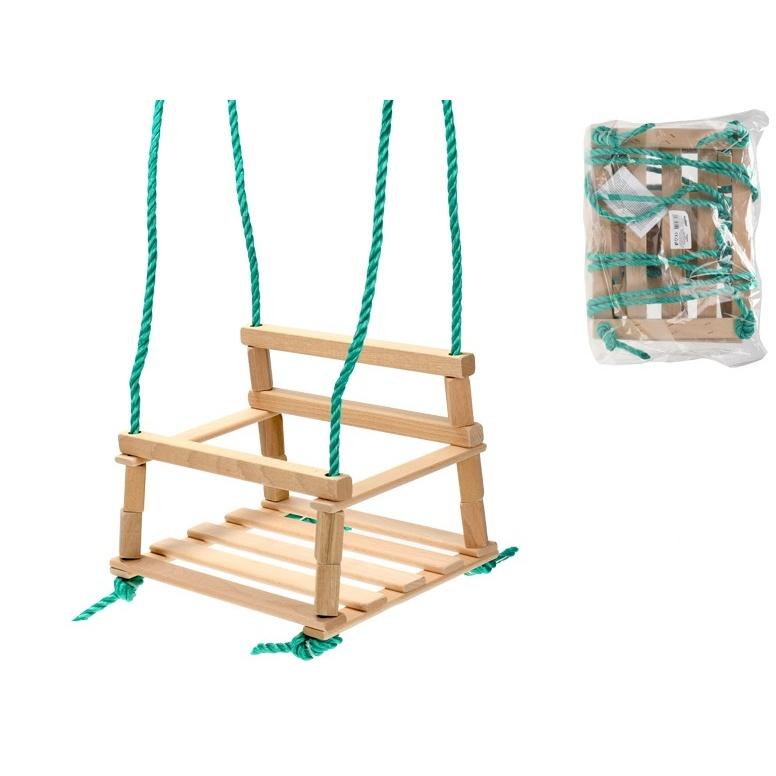 Houpačka dřevěná 34,5x26cm max. nosnost 60kg v sáčku