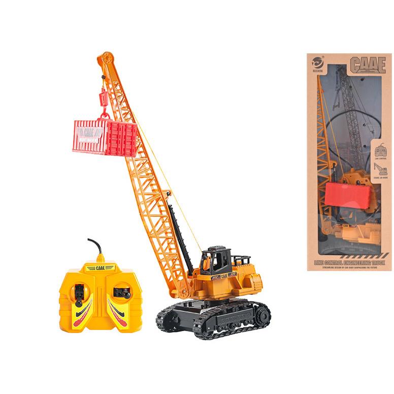 Jeřáb 36cm 1:50 stavební na kabel jednoduchá funkce na baterie v krabičce