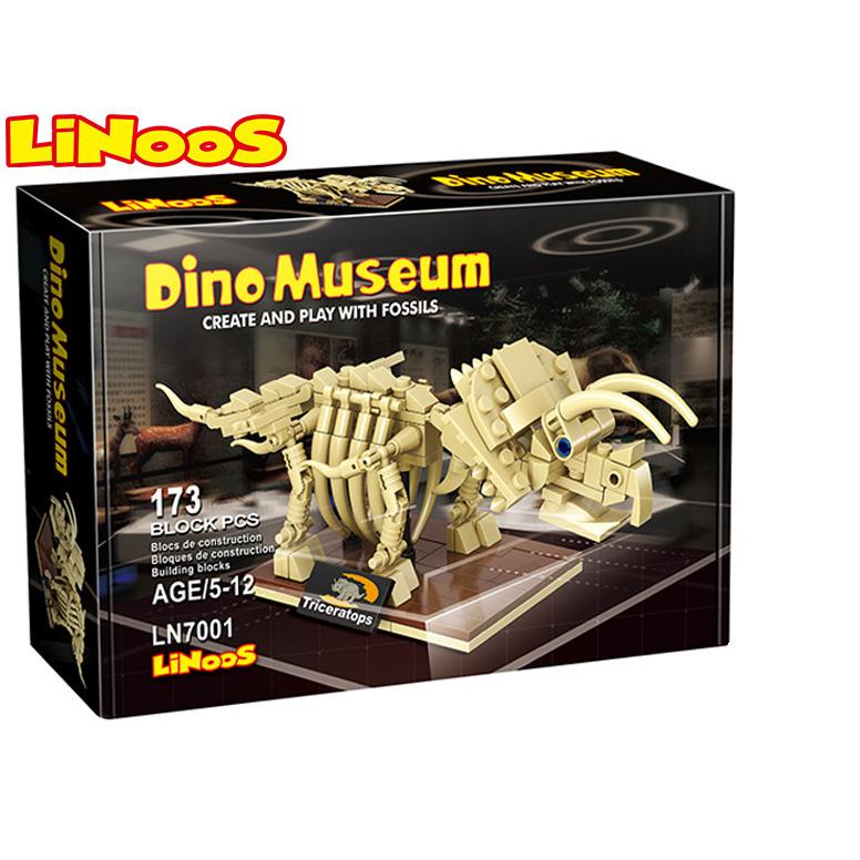 LiNoos klocki 173 szt. szkielet Triceratopsa w pudełku