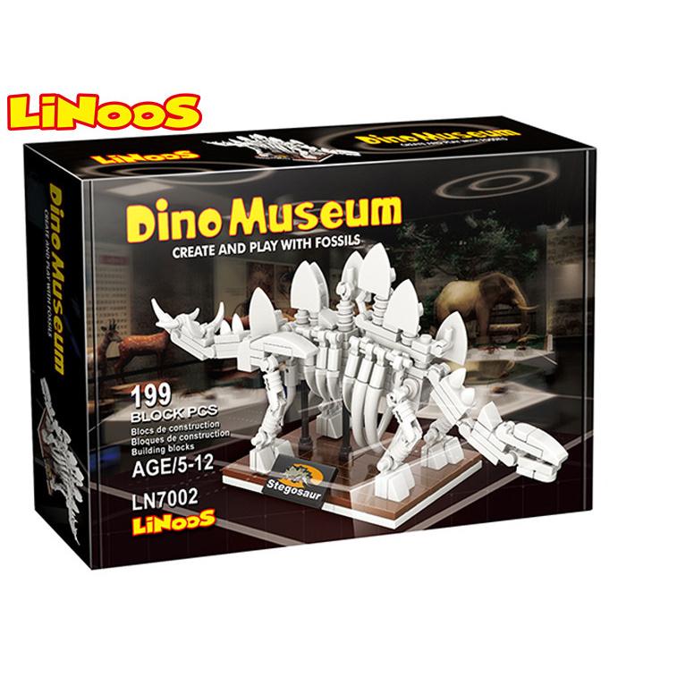 LiNoos klocki 199 szt. szkielet Stegosaurusa w pudełku