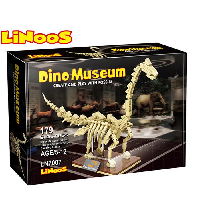 LiNoos klocki 179 szt. szkielet Brachiosaurusa w pudełku