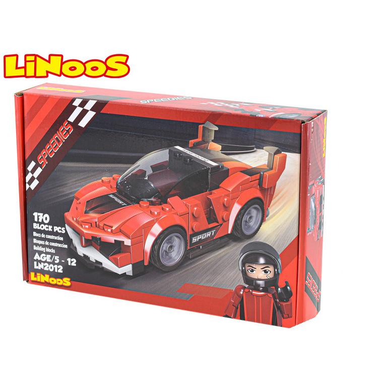 LiNoos klocki 170 szt. samochód sportowy wolne bieganie w pudełku