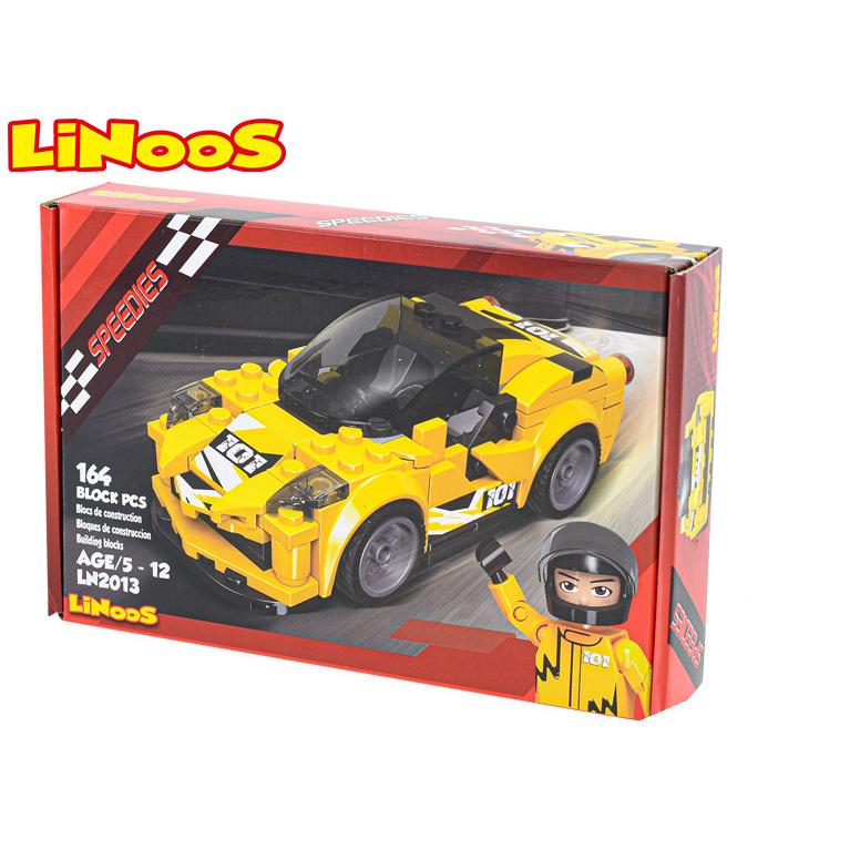 LiNoos klocki 164 szt.samochód sportowy wolne bieganie w pudełku