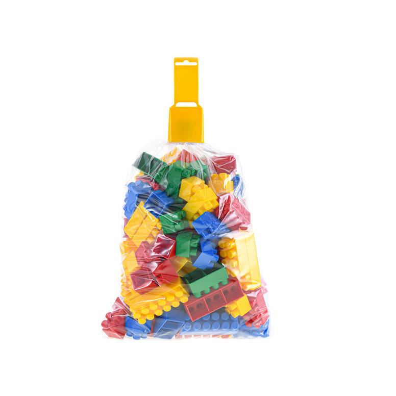 Klocki plastikowe 3-9 cm 100 szt. w torbie